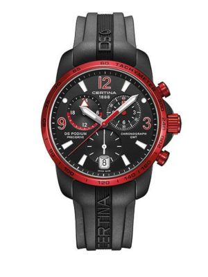 Montre Certina DS Podium Chronograaf GMT Quartz C001.639.97.057.02