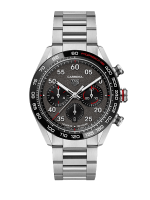 TAG Heuer Carrera Porsche Heuer 02 Automatic Mens Grey Steel Chronograph CBN2A1F.BA0643