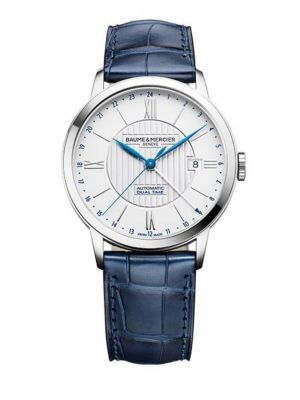 Baume et Mercier Classima Dual Time Steel on Leather 10272  