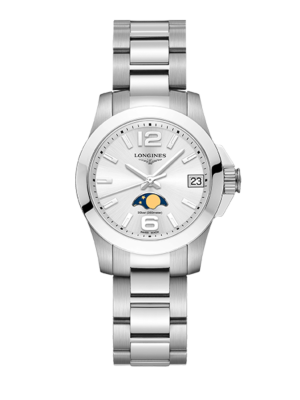 Montre Longines Conquest Phase de Lune L3.380.4.76.6