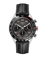 TAG Heuer Carrera Porsche Heuer 02 Automatic Mens Grey Leather Chronograph CBN2A1F.FC6492 Horloge